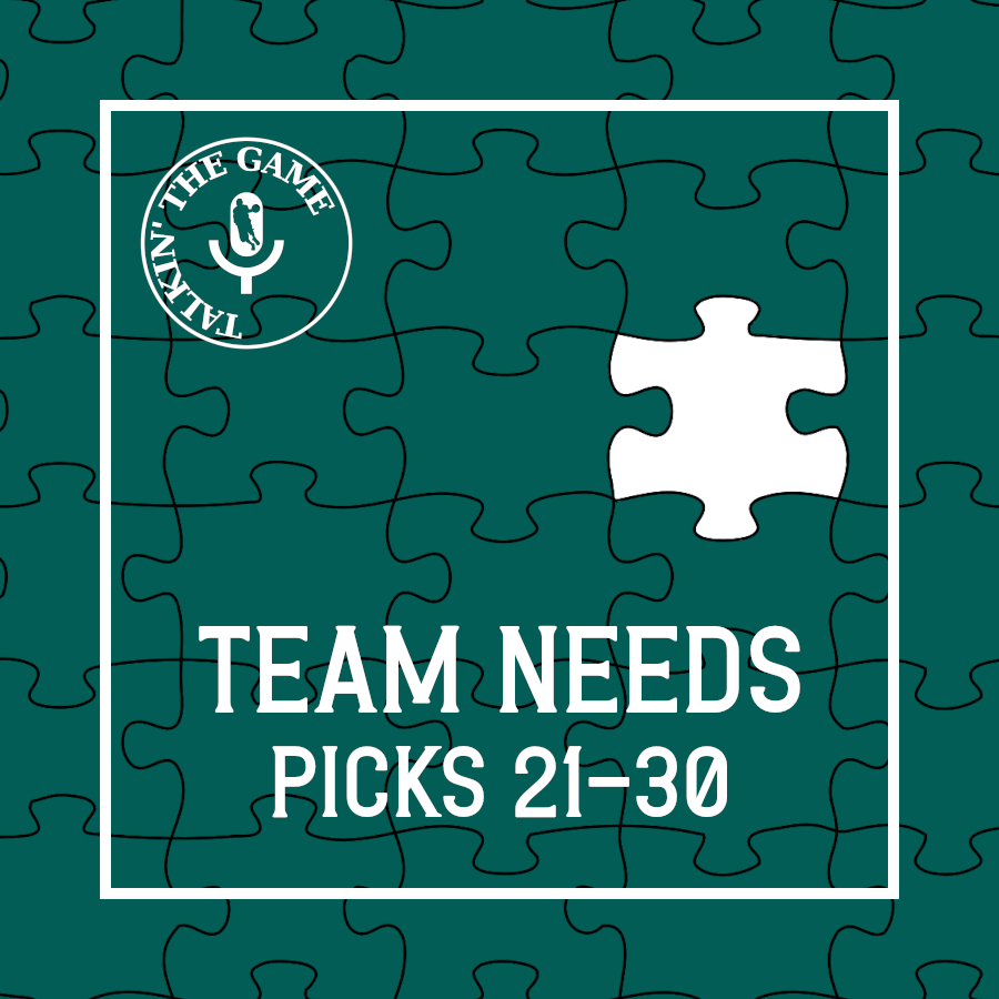 Pod #165 – Scoutin' The Game: Team Needs – Pick 21-30